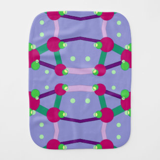 Science and Atom Pattern Burp Cloths