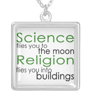 Science and Religion Silver Plated Necklace