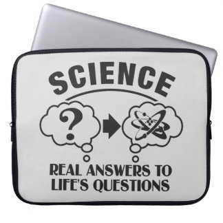 Science Answers custom laptop sleeve