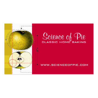 Science apple cooking baking business cards