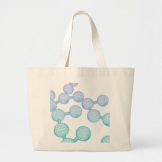 Science Atom and Chemical Formula as Concept Large Tote Bag