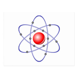 Science Atom Diagram Postcard