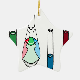 Science Beakers Test Tubes Solutions STEM Ceramic Ornament