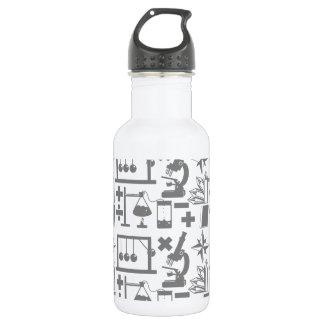 Science Biology Physics Geography Math Pattern 532 Ml Water Bottle
