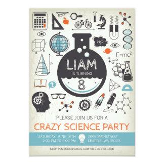 Science Birthday Invitation