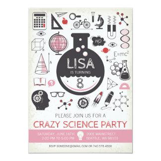 Science Birthday Invitation - Girl Birthday Party