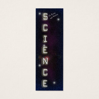 Science Bookmark Mini Business Card