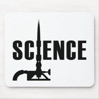 Science Bunsen Burner Mousepad (dark silhouette)