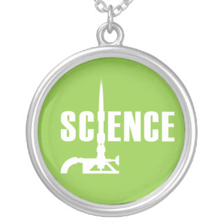 Science Bunsen Burner Necklace (light silhouette)