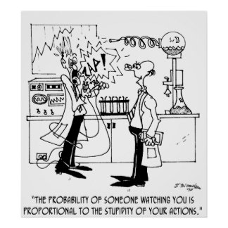 Science Cartoon 4735 Poster
