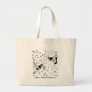 Science Cartoon 7146 Large Tote Bag