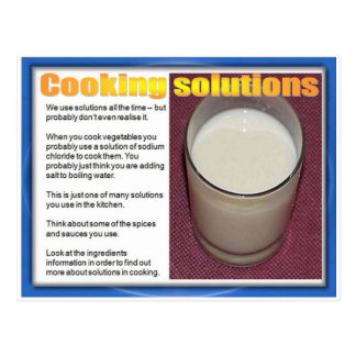 Science, Chemistry, Cooking solutions Postcards