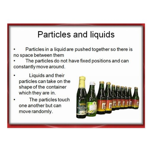 Science, Chemistry, Particles and liquids Post Card
