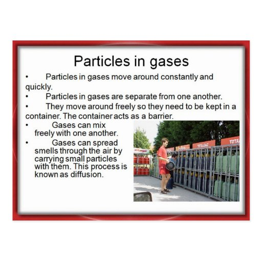 Science, Chemistry, Particles in Gases Post Cards