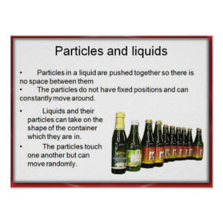 Science, Chemistry, Particles in liquids Poster