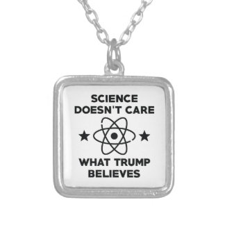 Science Doesn't Care Silver Plated Necklace