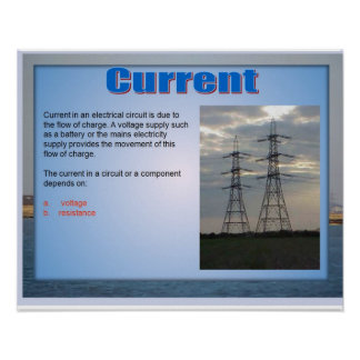 Science,Electricity Current Poster