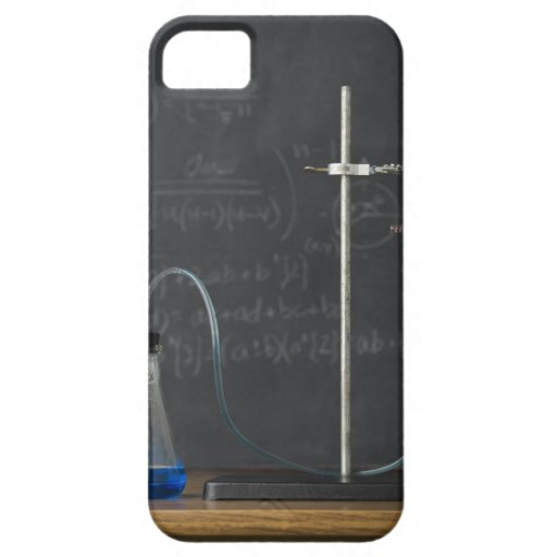 Science experiment in front of blackboard iPhone 5 covers