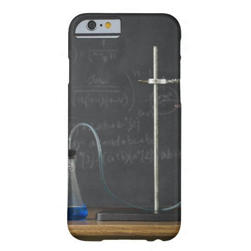 Science experiment in front of blackboard iPhone 6 case