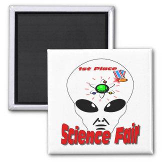 Science Fair Square Magnet