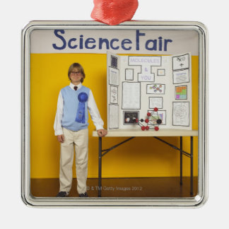 Science fair winner metal ornament