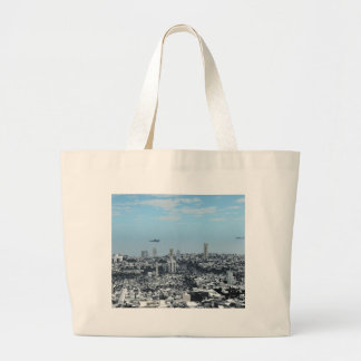 Science Fiction Cityscape Bags