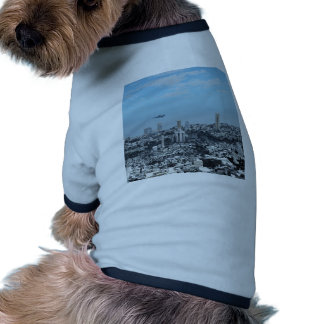 Science Fiction Cityscape Pet Tee