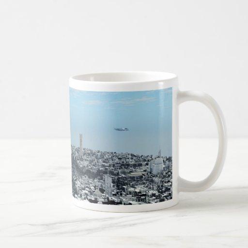 Science Fiction Cityscape Coffee Mugs