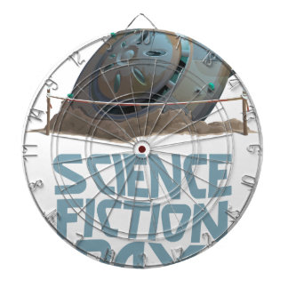 Science Fiction Day - Appreciation Day Dartboard With Darts