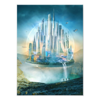 Science Fiction, Dome City Photographic Print