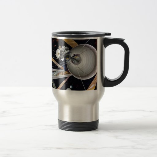 Science Fiction Space Station of Future Mugs