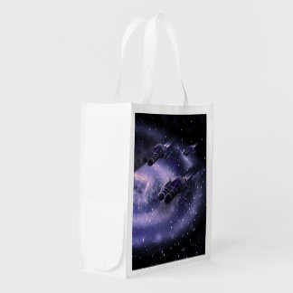 Science Fiction Spaceship Grocery Bags