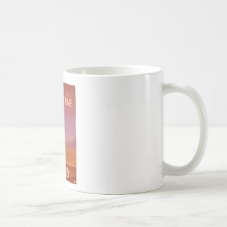 Science Fiction Vintage Mars Vacation Illustration Coffee Mug