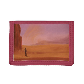 Science Fiction Vintage Mars Vacation Illustration Tri-fold Wallets