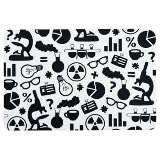 Science for Scientist Pattern (Black and White) Floor Mat