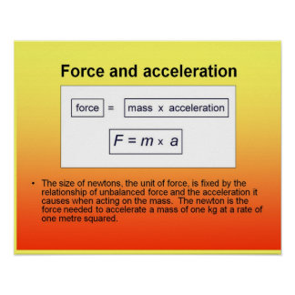 Science Force and acceleration Poster