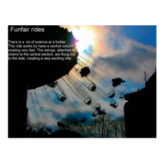 Science Forces and motion fairground rides Postcard