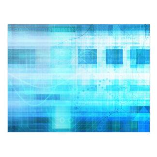 Science Futuristic Internet Computer Technology Postcard