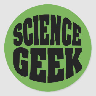 Science Geek Classic Round Sticker
