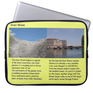 Science Geography River Rhone ice and water Computer Sleeve