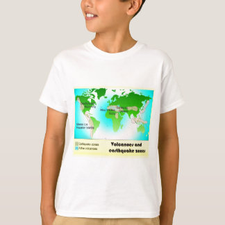 Science, Geography, Volcanoes and Earthquake zones T-Shirt
