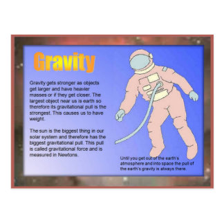 Science,  Gravity Postcard