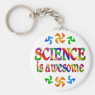 Science is Awesome Basic Round Button Key Ring