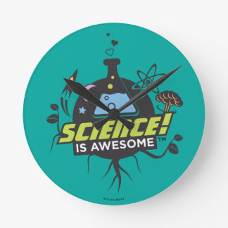 Science Is Awesome Round Clock