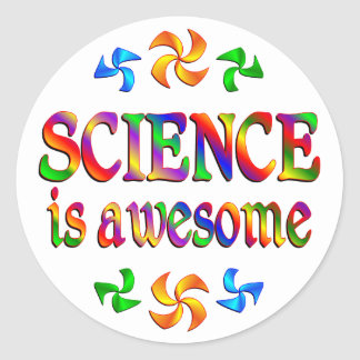 Science is Awesome Round Sticker