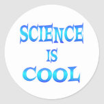 Science is Cool Round Sticker