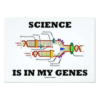 Science Is In My Genes (DNA Replication) Card