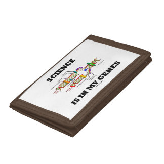 Science Is In My Genes DNA Replication Humor Trifold Wallets