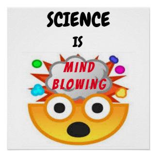 Science is Mind Blowing Emoji 3 Poster