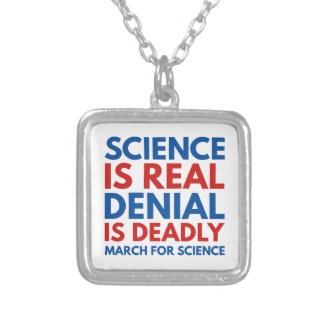 Science Is Real Silver Plated Necklace